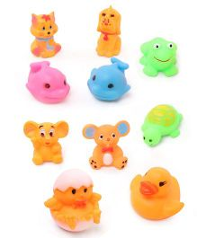 Babyhug Aquatic Animals Bath Toys - Set of 10