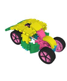 Clics Glitter 10 in 1 Construction Set - Yellow Pink Green