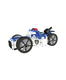 Clics Hero Squad Police Construction Set White And Blue - 242 Pieces