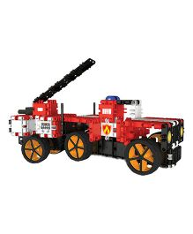 Clics Hero Squad Fire Brigade Construction Set Red - 228 Pieces