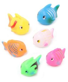 Babyhug Fish Bath Toy Set of 6 (Design May Vary)
