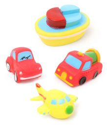 Babyhug Vehicle Bath Toys - Set of 4