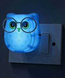 Night Lamp Droopy Eyed Owl Shape (Color May Vary)