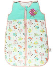 M&M Sleeping Bag With Bird Print - Multi Color
