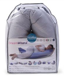 Nuvita Dream Wizard 10 In 1 Pregnancy And Breastfeeding Pillow Polka Dots - Grey