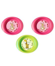 Nuvita Bowls Pack of 3  - Pink Green