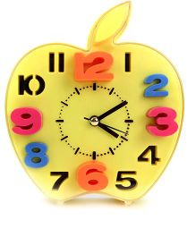Apple Shape Alarm Clock - Yellow