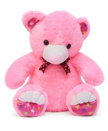 Liviya Soft Toy Teddy Bear With Printed Paw Pink - 58 cm