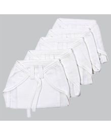 Tinycare Cloth Baby Nappy Small White - Set Of 5