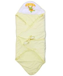 Tinycare Deluxe Hooded Towel Parachute Print - Light Yellow