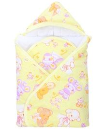 Tinycare Hooded Baby Blanket - Yellow