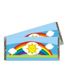 Prettyurparty Rainbow Chocolate Wrappers Blue - Pack Of 10