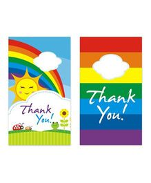Prettyurparty Rainbow Thank You Cards - Pack Of 10