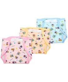 Tinycare Waterproof Nappy Small Set of 3 (Color May Vary)