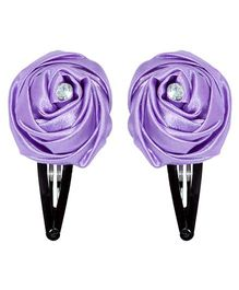 Miss Diva Elegant Diamond Studded Rose Tic Tac Set - Purple