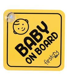 Firstcry Baby On Board Sign - Yellow