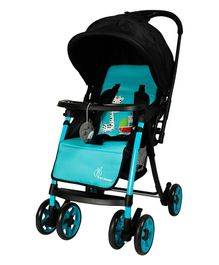 R for Rabbit Poppins Plus An Ideal Pram For Moms - Blue & Black
