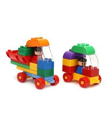 Virgo Toys  Play Blocks Highway Vehicle Set Multi Color - 33 Pieces