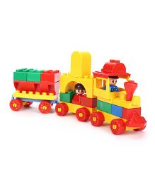 Virgo Toys Play Blocks Free Wheel Junior Train Set - Multicolour