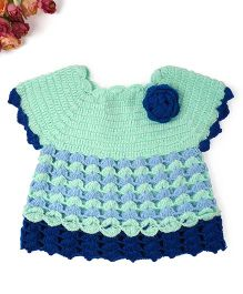 Mayra Knits Blueberry Dress - Mint Green & Blue