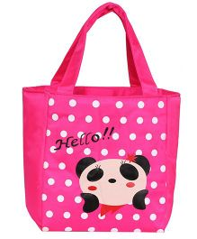 EZ Life Panda Print Kids Thermal Lunch Bag - Pink