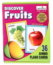 Creative Discover Fruits Flash Cards - 36 Pieces