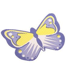 Butterfly Shaped EVA Table Mat - Purple Yellow