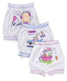 Bodycare Printed Bloomers Pack Of 3 - White(Colours And Print May Vary)