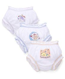 Bodycare Solid Color With Print Panties Set of 3 (Color & Print May Vary)