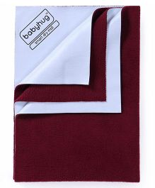 Babyhug Smart Dry Bed Protector Sheet Medium - Maroon