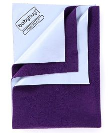 Babyhug Smart Dry Bed Protector Sheet Large - Plum