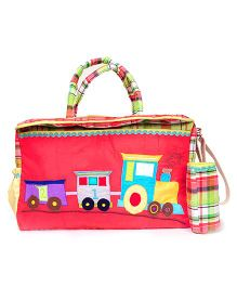 The Button Tree Pooh Diaper Bag - Red