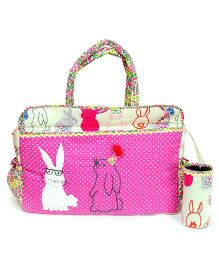 The Button Tree Rabbit Floss Diaper Bag - Pink