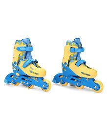 Minions 2 In 1 Inline Adjustable Roller Skate Yellow Blue - Small