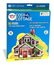 Genius Box Cosy Cottage Wooden 3D Puzzle - 22 Pieces