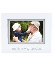 Pearhead Me and My Grandpa Photo Frame - White