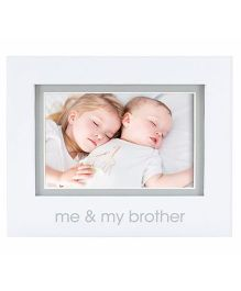 Pearhead Me and My Brother Photo Frame - White