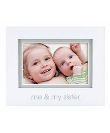 Pearhead Me and My Sister Photo Frame - White