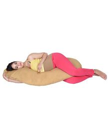 Lula Mom Maternity C Shape Body  Pillow - Beige