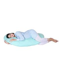 Lula Mom Maternity C Shape Body  Pillow - Green