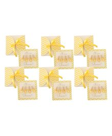 Crack of Dawn Crafts Baby Shower Invitation Clothes Line Happy Yellow - Pack of 6