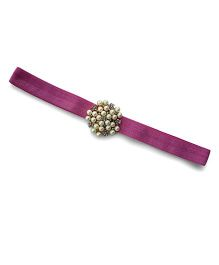 Little Miss Cuttie Elegant Diamond & Pearl Headband - Rose Pink
