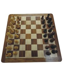 Wasan Chopra Magnetic Chess Board Game - Brown Cream