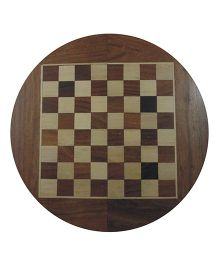 Wasan Chopra Chess Round Magnetic -  Brown Cream