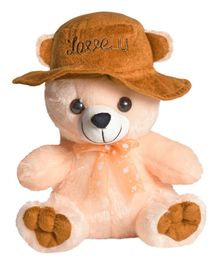 Ultra Cap Teddy Soft Toy Peach - 22.86 cm