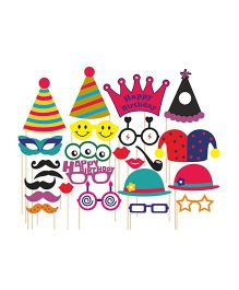 Syga Party Props Set 24 Pieces - Multicolor