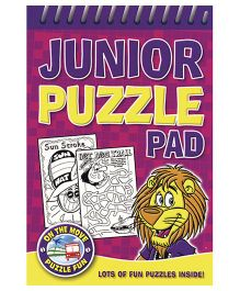 Junior Puzzle Pad Purple - English