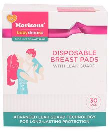Morisons Baby Dreams Disposable Breast Pads With Leakguard - 30 Pieces