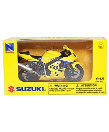 New Ray Die Cast Toy Bike Suzuki GSX R600 - Yellow