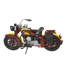New Ray Die Cast Toy Bike Indian Sport Scout 1934 - Brown And Yellow